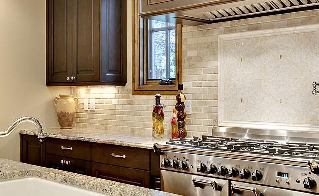 travertine beige kitchen