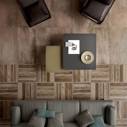 wood effect tiles living room