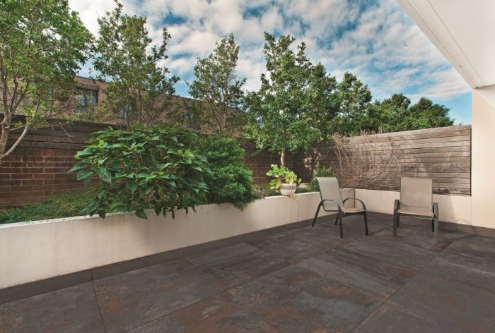 Tiled Outdoor Area