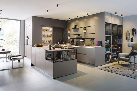 Grey interior kitchen