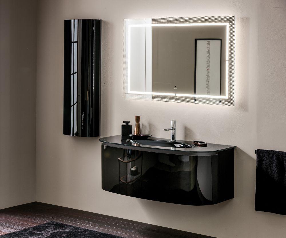black interior bathroom